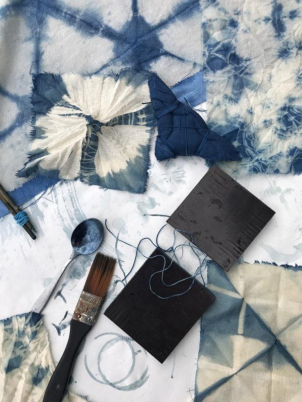 Workshops mit Anette Rega bei Blumen Kersten: Blaufärben mit Indigo und Shibori