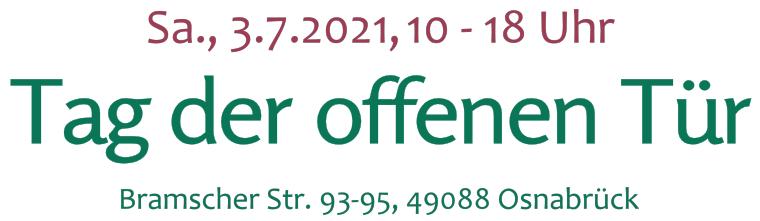 Tag der offenen Tür in der Alten Gärtnerei Kersten am 3.7.2021
